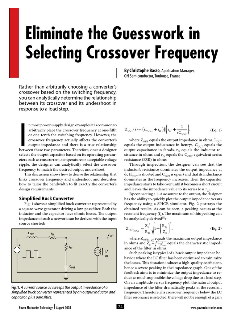 808pet22 Eliminate Crossover Frequency Guessworkpdf Electrical Circuit Simulator Impedance Capacitor