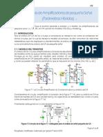 Analisis de Amplificadores de Pequena Dsenal Parametros Hibridos E