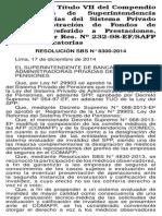 RESOLUCIÓN SBS N° 8300-2014