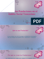 Papel de las fundaciones en Venezuela