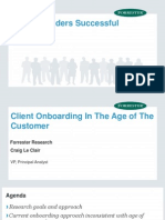 Client Onboarding in the Age of the Customer