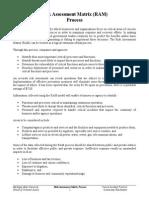 Risk Assessment Matrix Process
