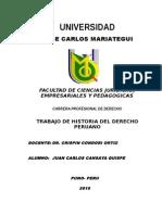 Historia Del Derecho Peruano