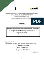 Finance islamique. Développement, pratique et analyse de certains aspects liés à sa réglementation