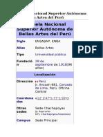 Escuela de Bellas Artes Lima