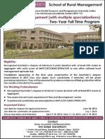 MBA-Rural IIHMR University