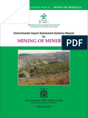 Mining Guidelines Manual for EIA Preparation | Environmental