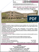 MBA- Hospital & Health_IIHMR University