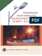 Solar Street Light 40W 24V