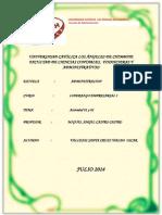 Actividad de Aprendizaje Nº 01 y 02 Liderazgo Empresarial