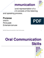 Oral Communication Skills
