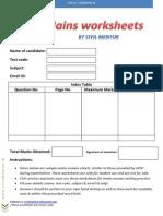 UPSC Mains Blank Answer Sheets