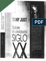 Sobre El Olvidado Siglo XX Introduccion y Postfacio Tony Judt