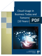 Cloud Usage in Business Today and Tomorrow