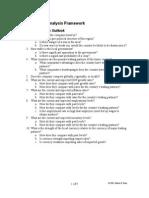 Fundamental Analysis Framework