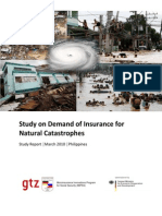 Summary_Study on Demand of Insurance for Natural Catastrophes Final