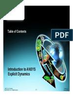 Explicit Dynamics Chapter 0 TOC