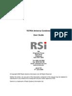 Antenna Combiner Manual