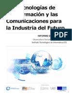Las Tecnologas de La Informacin y Las Comunicaciones Para La Industria Del Futuro