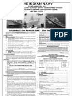 indian navy officers recruitment ad -english