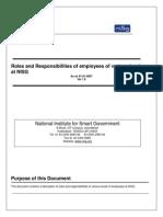 Roles&Res at NISG