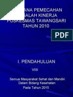 Seminar Manajemen Puskesmas Tawangsari 2009