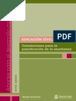Educación Cívica Orientaciones Para La Planifi Cación de La Enseñanza