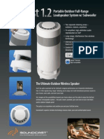Soundcast OutCast 1.2 Product Sheet 030912 Lrz