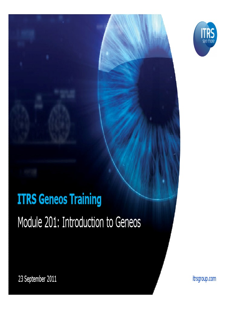 235156500 introduction to itrs geneos
