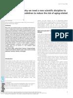 Nutrigerontology - A New Scientific Discipline introduced by Dr. Kris Verburgh