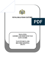 GST Guide - Tax Invoice and Record Keeping