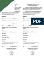 2015 Club Membership Form LMCC