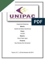 Carpeta de Evidencias Gestión de Medios Electrónicos NNDH
