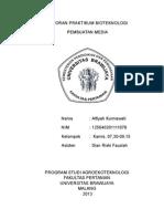 Laporan Praktikum Bioteknologi Media