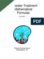 Wastewater Treatment Mathuematical Formulas