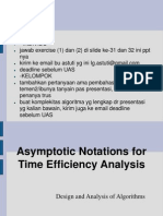 Asymptotic Notations for Time Efficiency Analysis