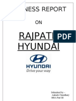 Business Report on rajpath hyundai