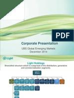 Corporate Presentation - UBS Global Emerging Markets*