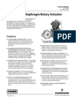 Fisher Diaphragm rotary actuator