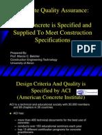 Concrete Quality Assurance