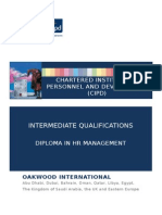 CIPD Intermediate Level 5 HRM Brochure