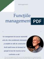 Prezentare Curs, Functiile Managementului (1)