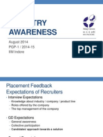 Industry Awareness Briefing 2014-15