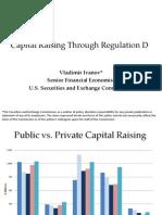Regulation D Private Placement Market Ivanov SEC