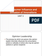 Consumer and Diffusion of Innovation-Unit 4