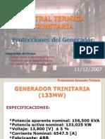 Protecciones Generador Central Térmica Trinitaria