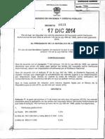 Decreto 2621 Del 17 de Diciembre de 2014
