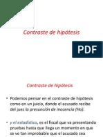 CONTRASTE DE HIPOTESIS clase 9  2014  II.pptx
