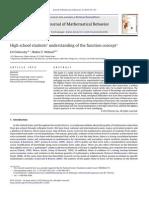Understanding of Function Concept