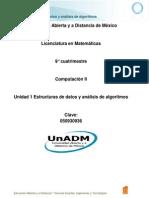 U1. Estructuras de Datos y Análisis de Algoritmos